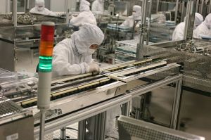 The Clean Room of the Seagate Factory, Wuxi, China