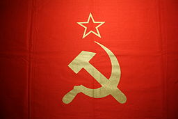 Hammer and Sickle on Flag